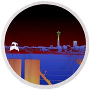 Pier With A View Round Beach Towel
