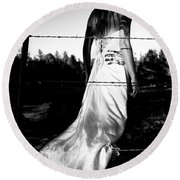 Pierced Dress Round Beach Towel