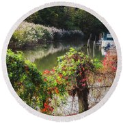 Piermont Fall Color Round Beach Towel