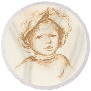 Pierre Renoir Round Beach Towel