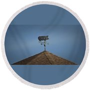 Pig Weathervane Ocean Isle North Carolina Round Beach Towel