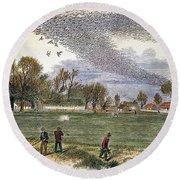 Pigeon Hunting, C1875 Round Beach Towel