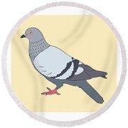 Pigeon Yellow Round Beach Towel