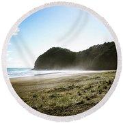 Piha, New Zealand Round Beach Towel