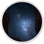Pike National Forest Milky Way Round Beach Towel