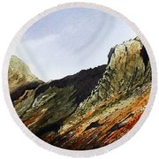 Pike O' Stickle And Loft Crag Round Beach Towel