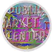 Pike Place Market 3 Round Beach Towel