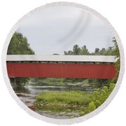 Pike River Canada Round Beach Towel