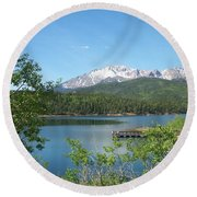 Pike's Peak Round Beach Towel