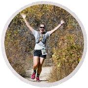 Pikes Peak Road Runners Fall Series IIi Race #3676 Round Beach Towel