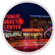 Pikes Place Market Round Beach Towel
