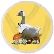 Pilgrim Duck Round Beach Towel