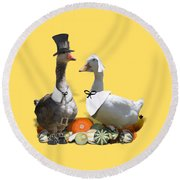 Pilgrim Ducks Round Beach Towel