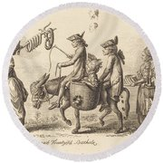 Pilgrimage To French Bucholz Round Beach Towel