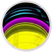 Pillar Of Light Round Beach Towel