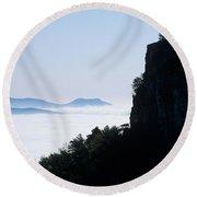 Pilot And Sauertown And Hanging Rock Mountains Round Beach Towel