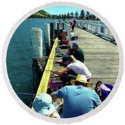 Pilot Bay Beach 6 - Mount Maunganui Tauranga New Zealand Round Beach Towel