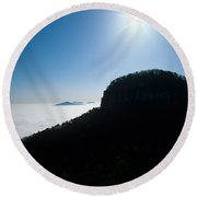 Pilot Mountain Round Beach Towel