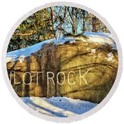 Pilot Rock Iowa Round Beach Towel