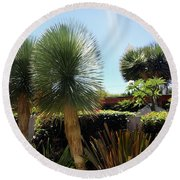 Pinball Plants, Long-pin Plants Round Beach Towel