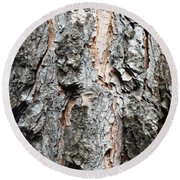 Pine Bark Round Beach Towel