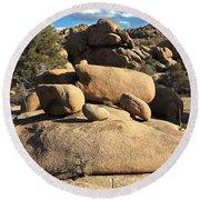 Pine City Boulders Round Beach Towel