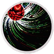 Pine Cone Abstract Round Beach Towel