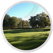 Pine Ridge Golf - Beautiful 14th Par 3 Round Beach Towel