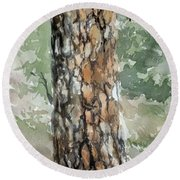 Pine Tree Round Beach Towel
