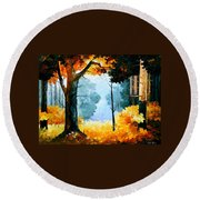 Pine Wood Round Beach Towel