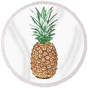 Pineapple Pencil Round Beach Towel