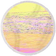 Pineapple Sunset Round Beach Towel