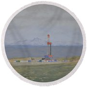 Patterson Rig 321 Round Beach Towel