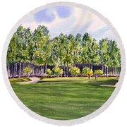 Pinehurst Golf Course 17th Hole Round Beach Towel