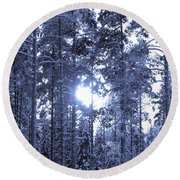 Pines 4 Round Beach Towel