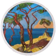 Pines Of The Silver Beach Round Beach Towel