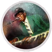 Pinetop Perkins Round Beach Towel