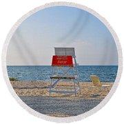 Piney Point Beach Round Beach Towel