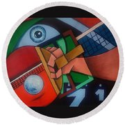 Ping Pong Round Beach Towel