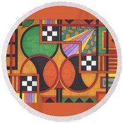 The Art Of God Round Beach Towel