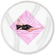 Pink Allure Round Beach Towel