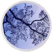 Pink And Blues Round Beach Towel