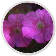 Pink And Gold 6156 Dp_2 Round Beach Towel