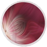 Pink And White Flower 0610 Round Beach Towel
