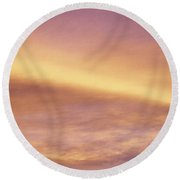 Pink And Yellow Sky Round Beach Towel