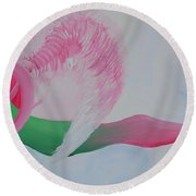 Pink Angel Of Unconditional Love Round Beach Towel