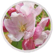 Pink Apple Blossoms Art Prints Spring Trees Baslee Troutman Round Beach Towel
