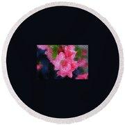 Pink Azaleas Round Beach Towel