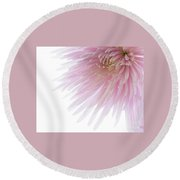 Pink Bloom Round Beach Towel