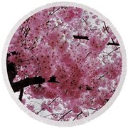 Pink Canopy Round Beach Towel
